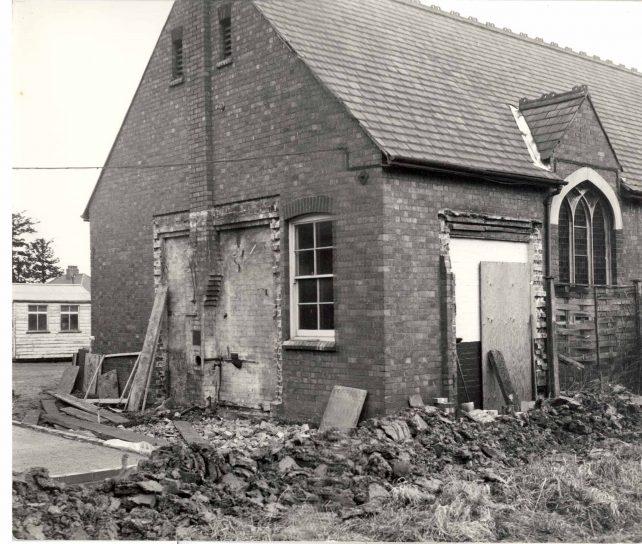 Church exterior during refurbishment