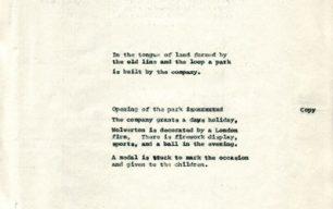 Wolverton loop line built and Wolverton Park opens (c.1885).
